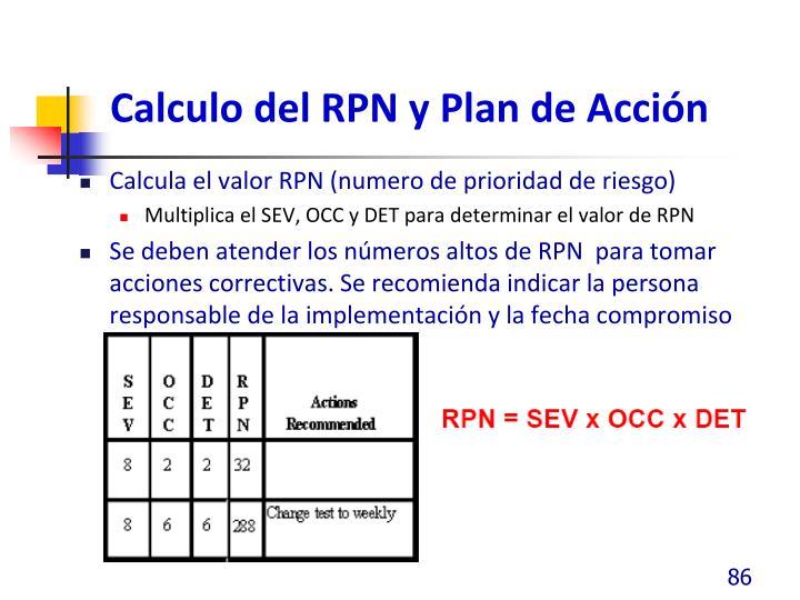 Calculo del RPN y Plan de Acción