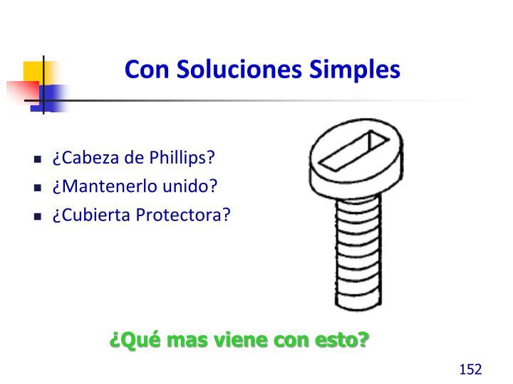 Con Soluciones Simples
