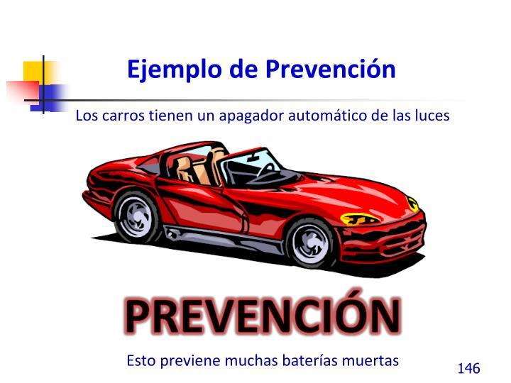 Ejemplo de Prevención