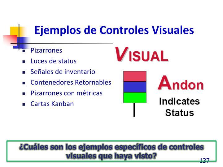 Ejemplos de Controles Visuales
