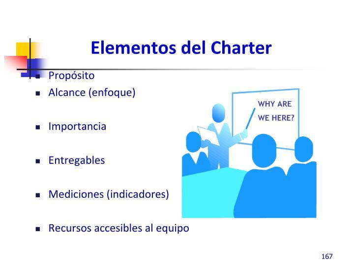 Elementos del Charter