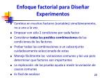 enfoque factorial para dise ar experimentos