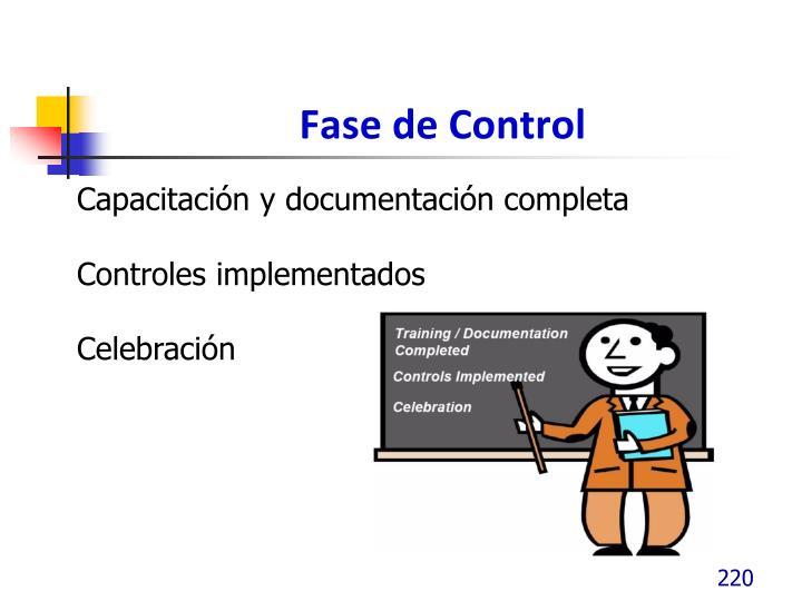 Fase de Control