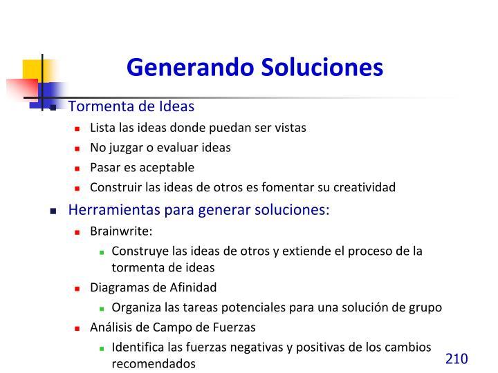 Generando Soluciones