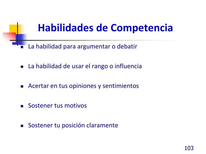 Habilidades de Competencia
