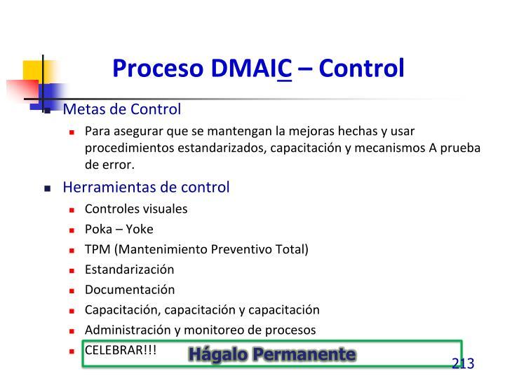 Proceso DMAI