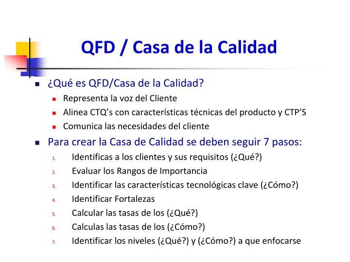 QFD / Casa de la Calidad