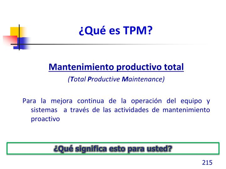 ¿Qué es TPM?