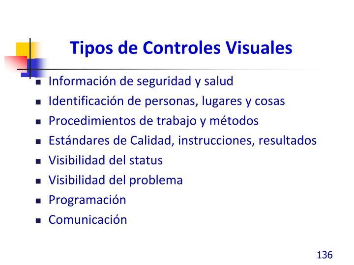 Tipos de Controles Visuales