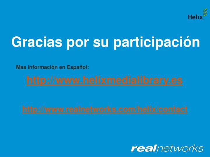 Mas información en Español: