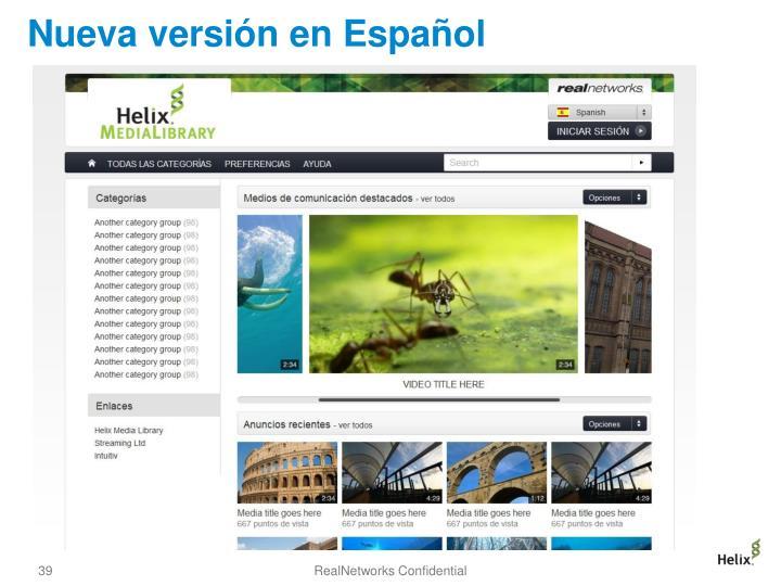 Nueva versión en Español