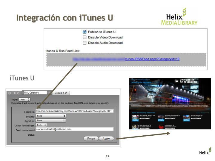 Integración con iTunes U
