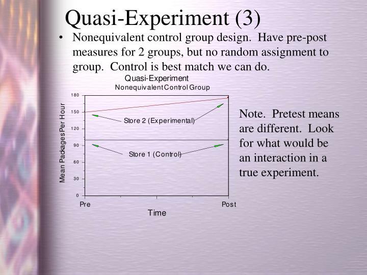 Quasi-Experiment (3)
