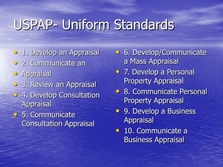 1. Develop an Appraisal