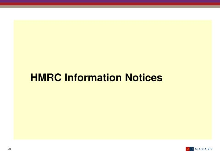 HMRC Information Notices