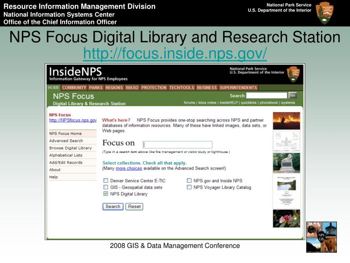 NPS Focus Digital Library and Research Station