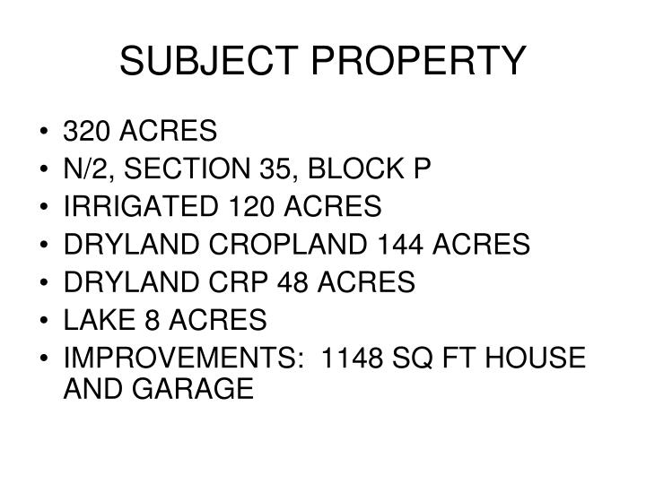 Subject property