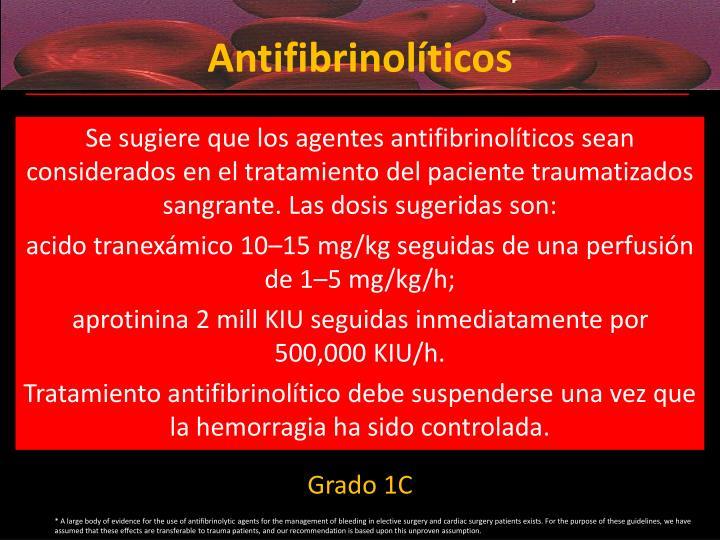 Antifibrinolíticos