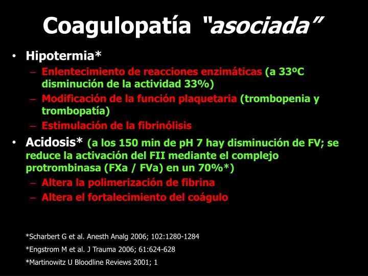 Coagulopatía