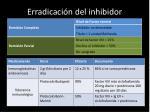 erradicaci n del inhibidor