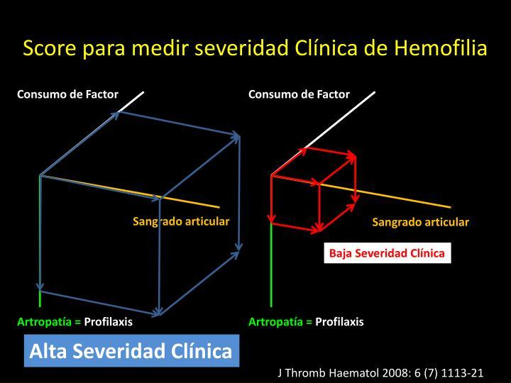 Score para medir severidad Clínica de Hemofilia