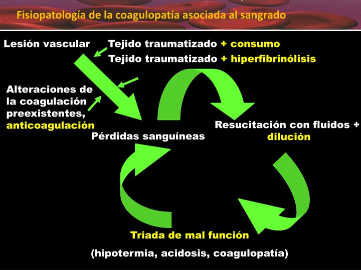 Fisiopatología de la coagulopatía asociada al sangrado