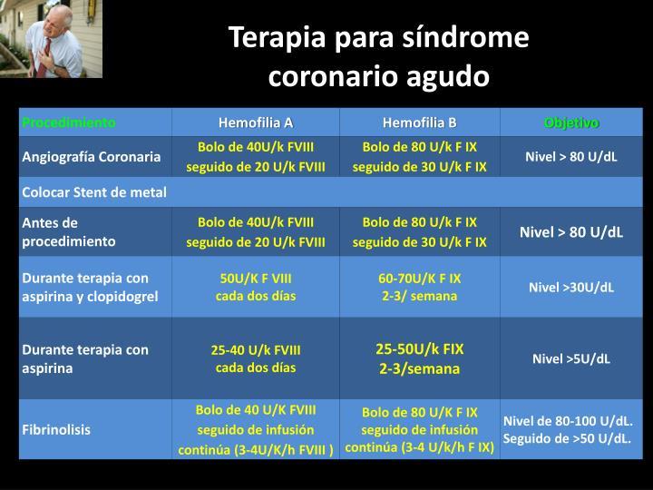 Terapia para síndrome