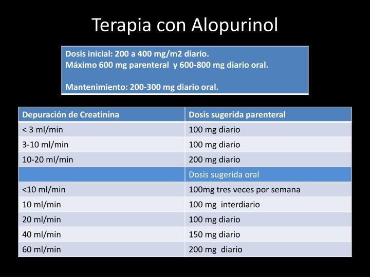 Terapia con Alopurinol