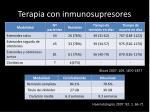 terapia con inmunosupresores