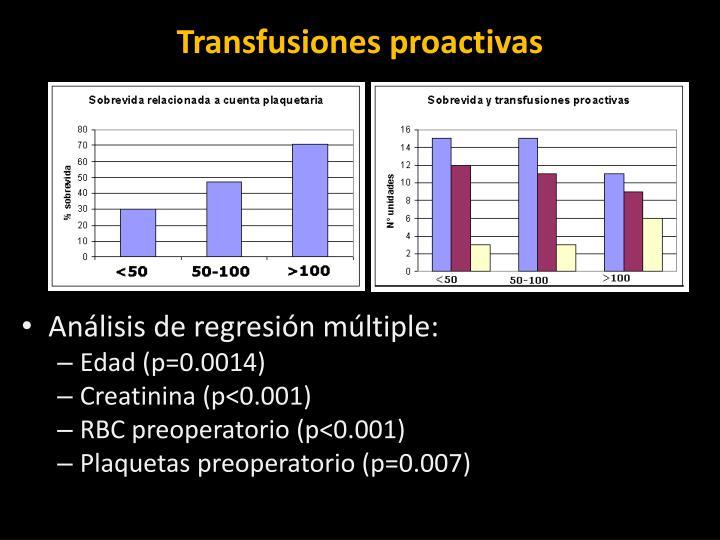 Transfusiones proactivas