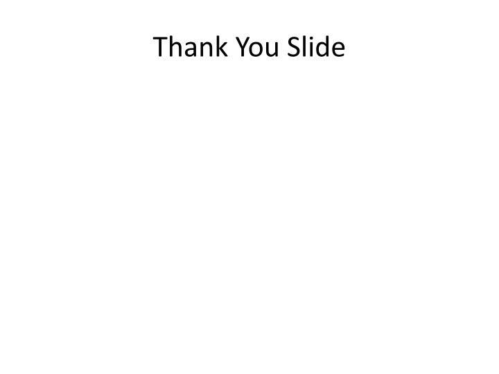 Thank You Slide