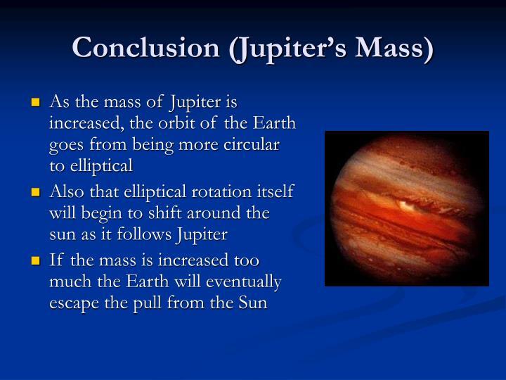Conclusion (Jupiter's Mass)