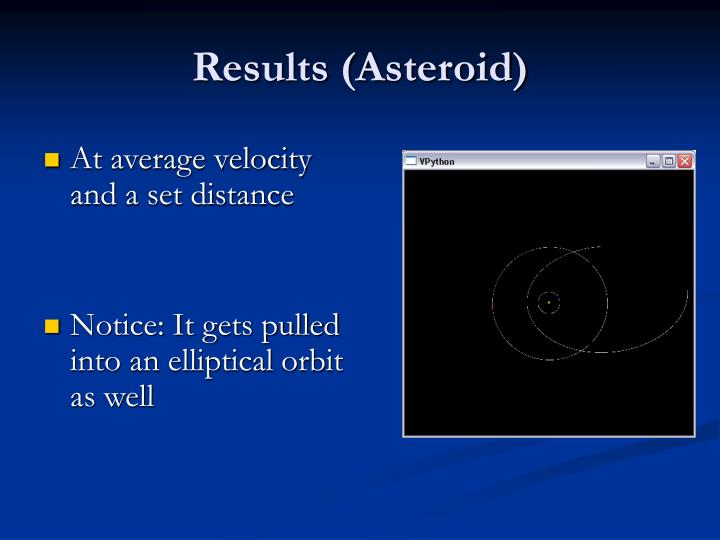 Results (Asteroid)