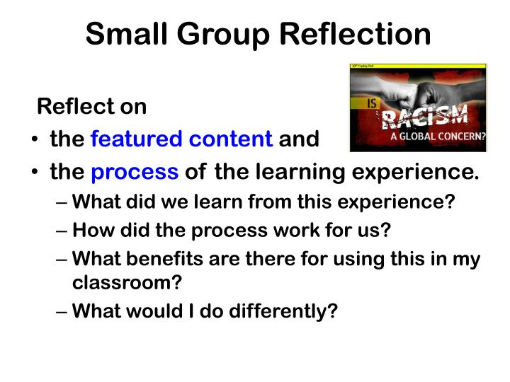 Small Group Reflection