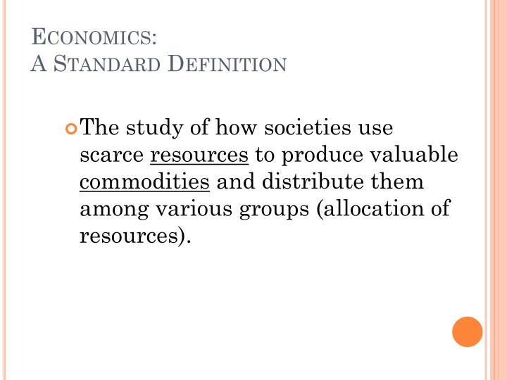 Economics: