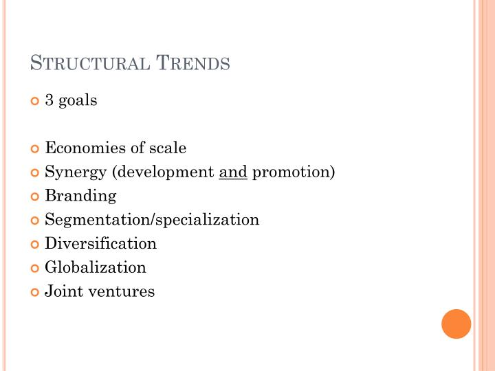 Structural Trends