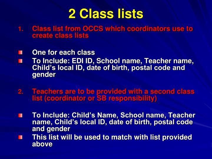 2 Class lists