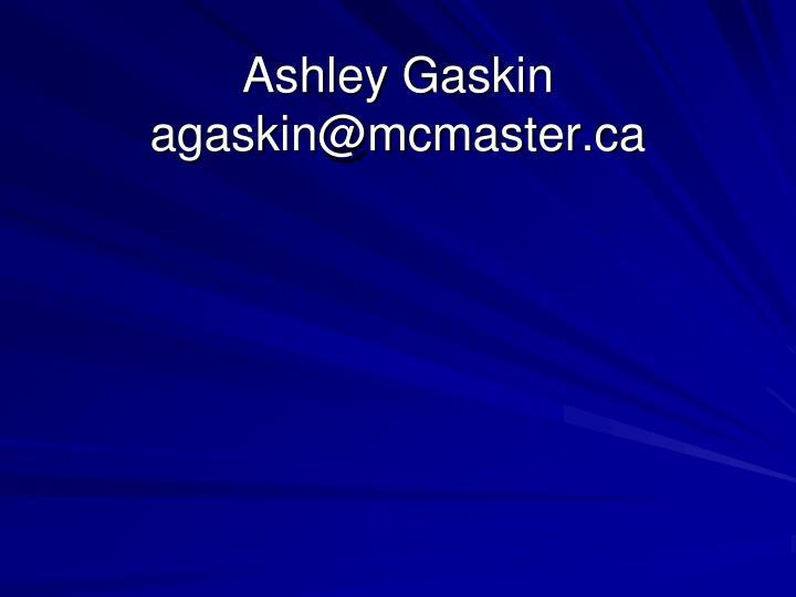 Ashley Gaskin