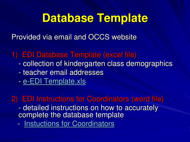Database Template