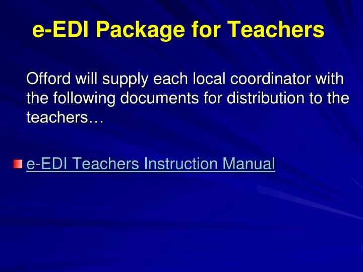 e-EDI Package for Teachers
