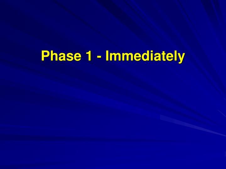 Phase 1 - Immediately