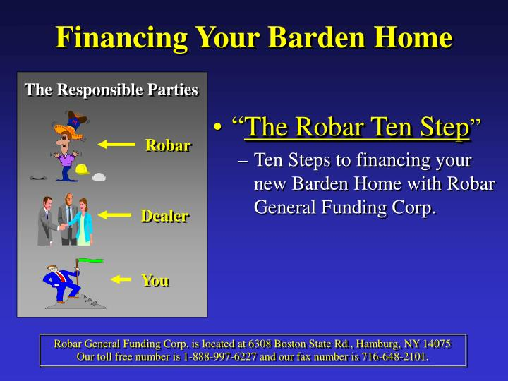 Financing Your Barden Home