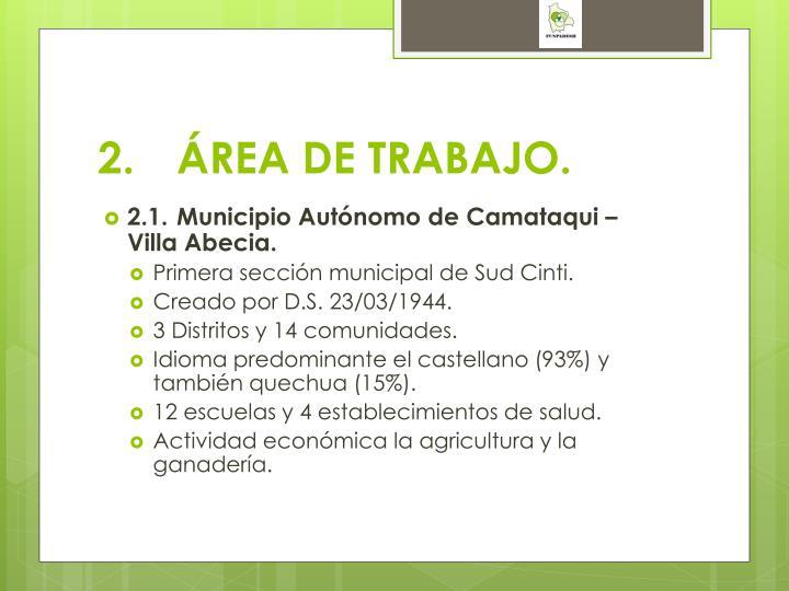 2.ÁREA DE TRABAJO.