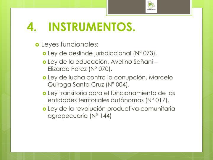 4.INSTRUMENTOS.