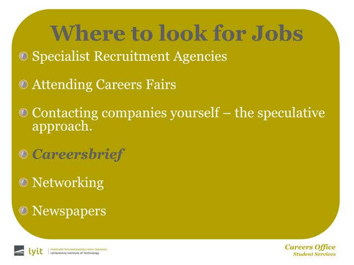 Where to look for Jobs