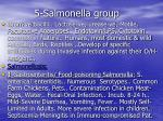 5 salmonella group