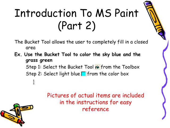 Introduction To MS Paint (Part 2)
