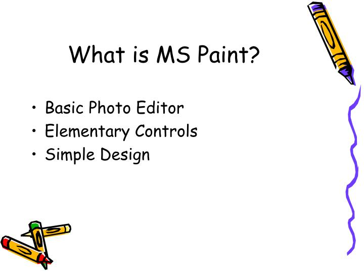 What is ms paint