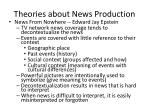 theories about news production1