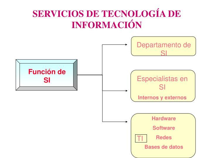 SERVICIOS DE TECNOLOGÍA DE INFORMACIÓN